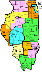 map of ill