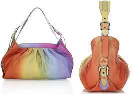 multicolored handbags