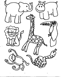 jungle animal coloring pictures