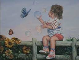 paintings of children playing