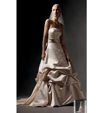 champagne colour wedding dress