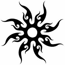 tribal sun tattoo pictures