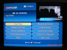 comcast on demand menu