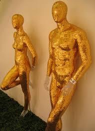 gold mannequin