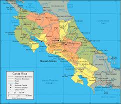 costa rica map manuel antonio