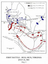 map of the first battle of bull run