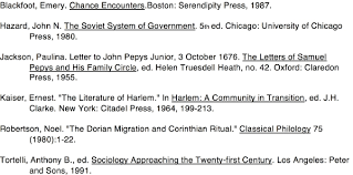 bibliography sample