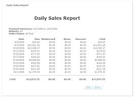 daily sales reports