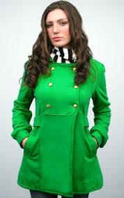 bright green coat