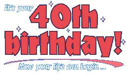 40th birthday logos