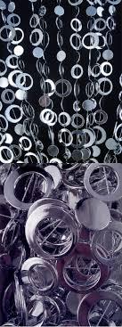 silver beaded curtain