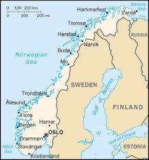 northern norway map