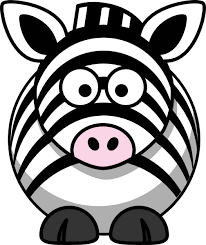 cartoon zebra image
