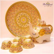 elephant tea set