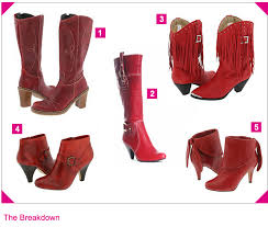 cowgirl boots red