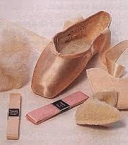 pointe shoes elastic