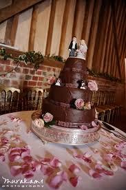 chocolate and pink wedding