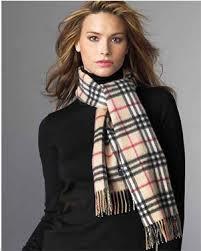 black burberry scarf