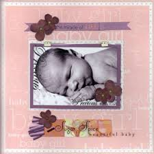 baby girl scrapbook ideas