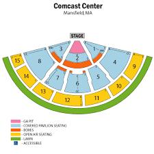comcast center mansfield seating