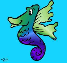 drawings of seahorses