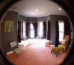 round window curtain
