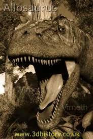 allosaurus teeth