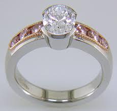 half bezel diamond ring