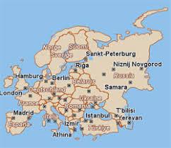 harta rutiera a europei