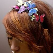 butterfly hair piece