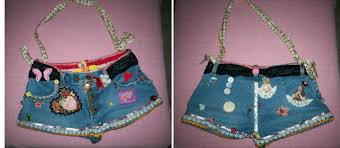 recycled jean bags