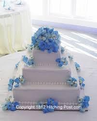 blue and white wedding cakes