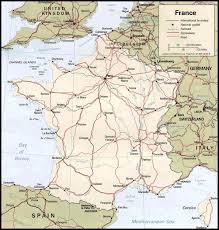 driving map france