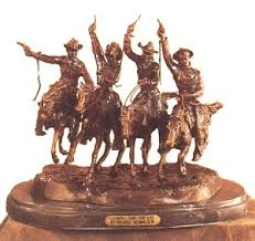 remington bronze statues