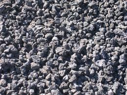 black lava rocks