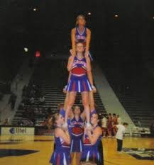 high school cheer stunts