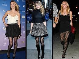 celebrities wearing tights