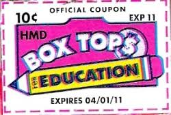 cereal box tops