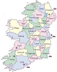 map of counties in ireland