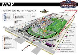 indianapolis motor speedway map