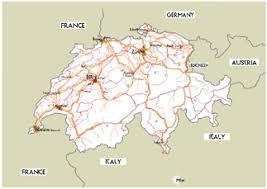 road map of switzerland