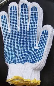 pvc dotted gloves
