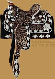antique western saddles