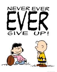 never never never give up