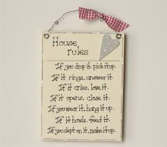 house rules signs