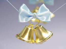 gold wedding bell