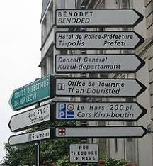 road sign list