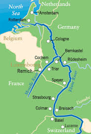 map of the river rhine
