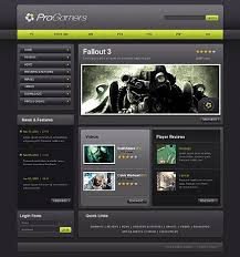 game website templates