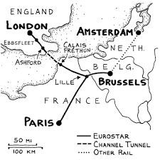 chunnel map